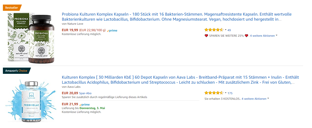 amazon best sellers Deutschland 1st May 2018