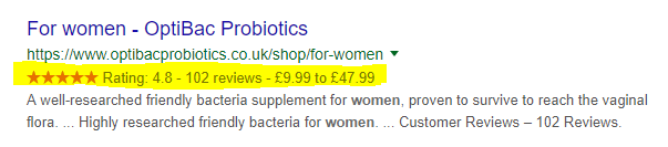 Optibac for women SERP