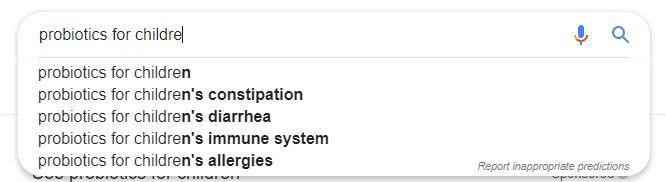 Search Predictions - Childrens