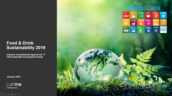 Food & Drink sustainability 2019 - Global Progress Report title slide