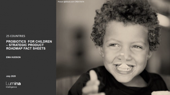 Probiotiocs for Children report title slide