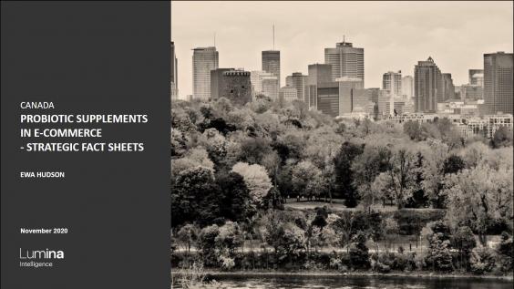 Probiotics in Canada Report Title slide
