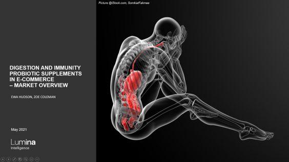 Immunity and digestion probiotics report title slide